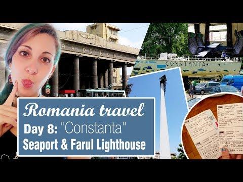 Romania travel Day 8 | Constanța sea port, Farul Lighthouse, Zoom beach and Gării Park