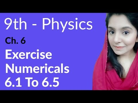 Physics Chapter no 6 Numerical 6.1 to 6.5 - Physics Chapter 6 Work and Energy - 9th Class