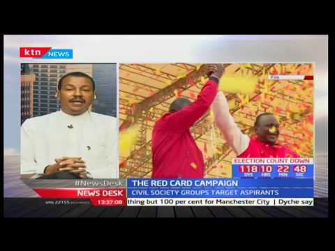 Civil rights activist-Irungu Houghton explains the Red Card Campaign