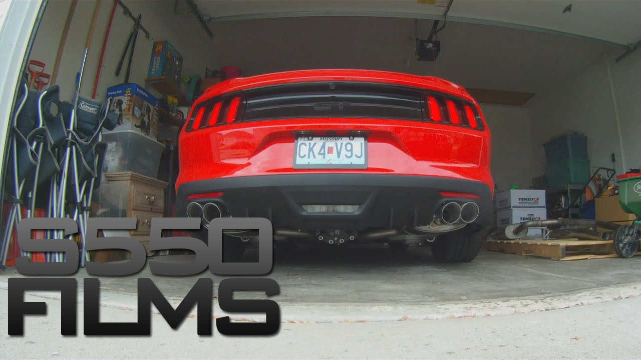 2015 mustang gt roush quad tip axle back w ford racing x pipe youtube