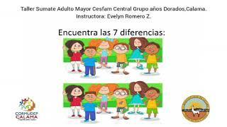 Taller Súmate Adulto Mayor Cesfam / Busquemos las diferencias Central,              GAD 1