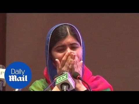 Malala in tears over emotional return back to Islamabad - Daily Mail