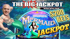 THREE JACKPOTS! 🧜MYSTICAL MERMAID 🧜 $200 SPINS + 20 FREE GAMES 😱 | The Big Jackpot