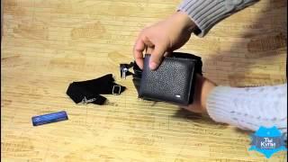 Видео обзор мужской черной сумки борсетки Bred с клапаном