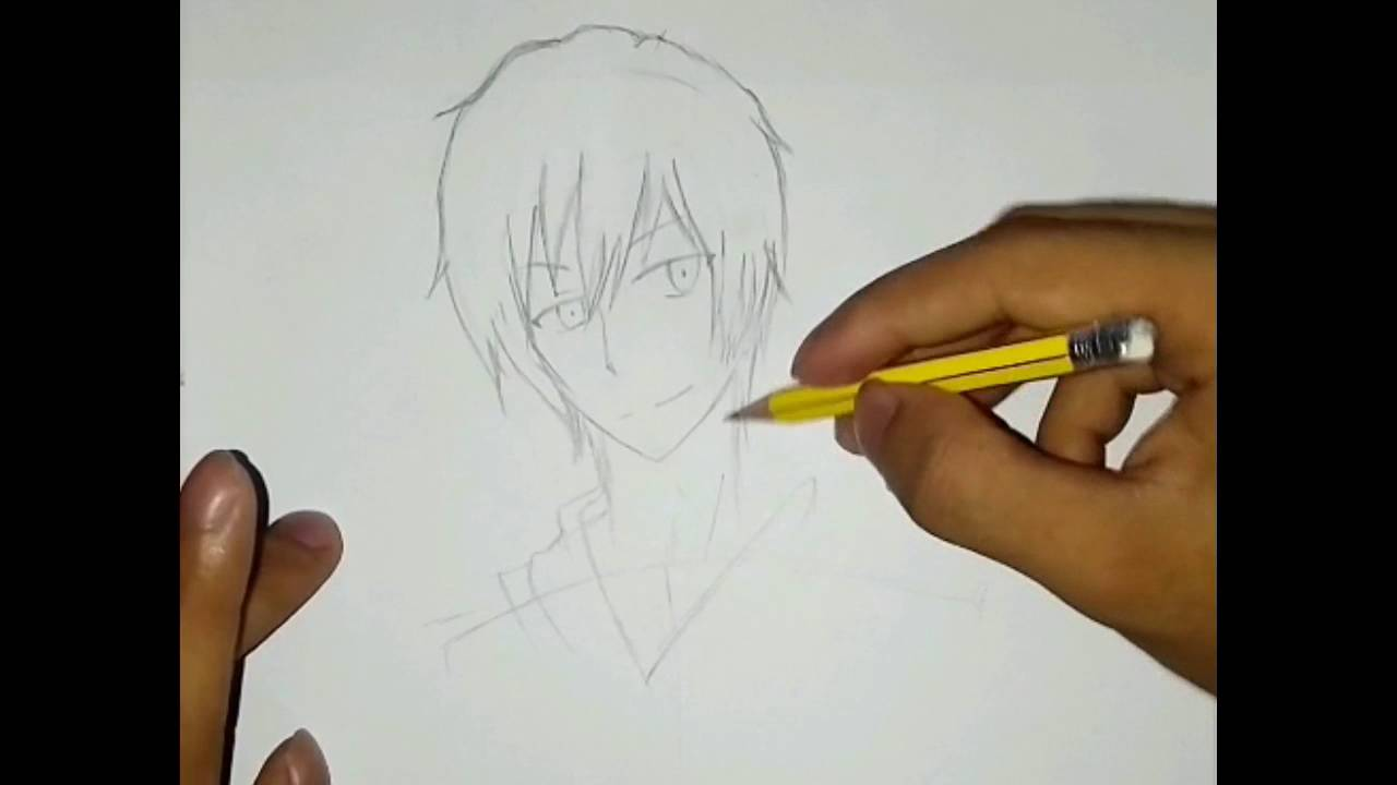 How To Draw Cool Anime Character Step By Step - YouTube