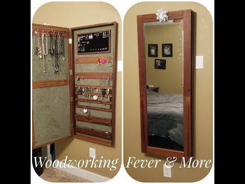 How to build a wall mounted jewelry armoire cabinet