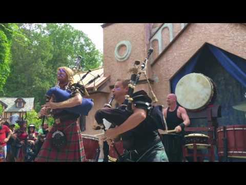 2016 MD Renaissance Fest:Cu Dubh Drumps & Bagpipes