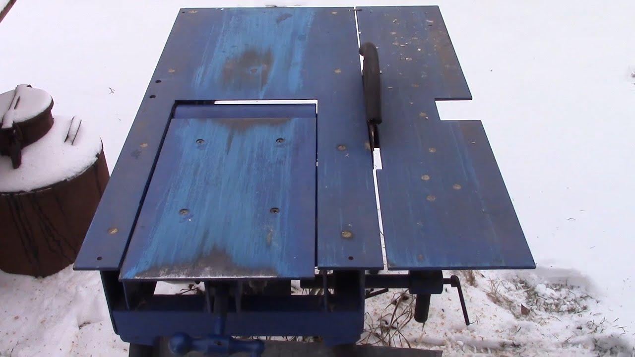 Подъемный стол самодельного фуганка