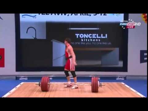 2014 European Weightlifting Championships Men's 77 kg Clean & Jerk Tel Aviv , Israel