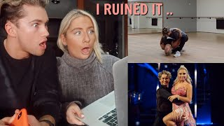 REACTING TO OUR CHA CHA CHA!! Strictly week 2 & i messed up ..