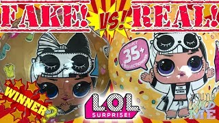 LOL Dolls With LIGHT UP Glow Balls! LOL Surprise Series 3 Wave 2 & Fake LOL Doll Surprise Toys