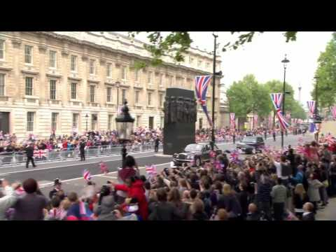 Prince William and Prince Harry leave Clarence House High definition