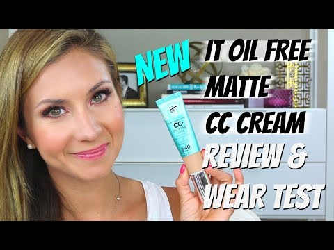 IT Cosmetics CC Cream Oil Free Matte Foundation Review and Wear Test