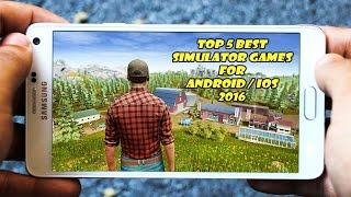 """Top 5 Best Simulator Games """" High Graphics """" for Android/iOS in 2016/2017 