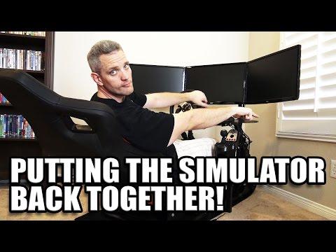 Putting The GT Omega Racing Simulator Back Together!