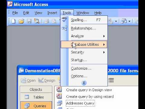 Microsoft Office Access 2003 Display a form or data access page at