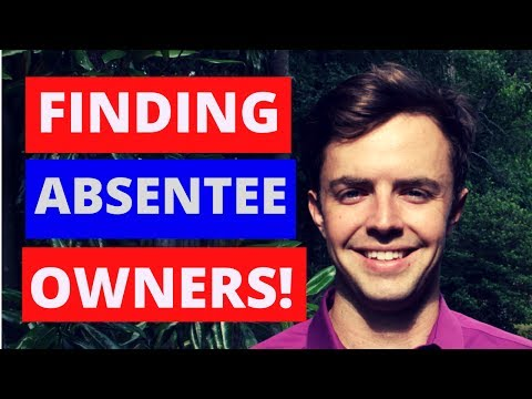Absentee Owners (Lists, Getting Numbers, & Mailing)