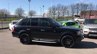 black Land Rover Range Rover Sport hse