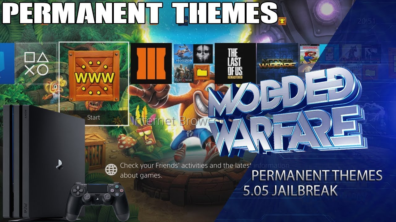 How to Install Permanent Themes on a 5 05 Jailbroken PS4