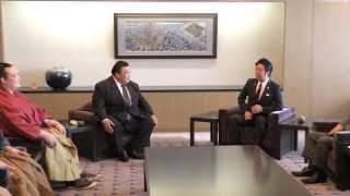 福岡市長高島宗一郎 大相撲九州場所 横綱・大関の表敬訪問がありました