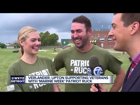 Kate Upton goes through Marine training in support of 'Wins for Warriors' efforts
