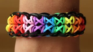 Rainbow Loom Nederlands - Totempole || Loom bands, rainbow loom, tutorial, how to