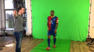 Jason Puncheon's Sky Sports Green Screen Shoot