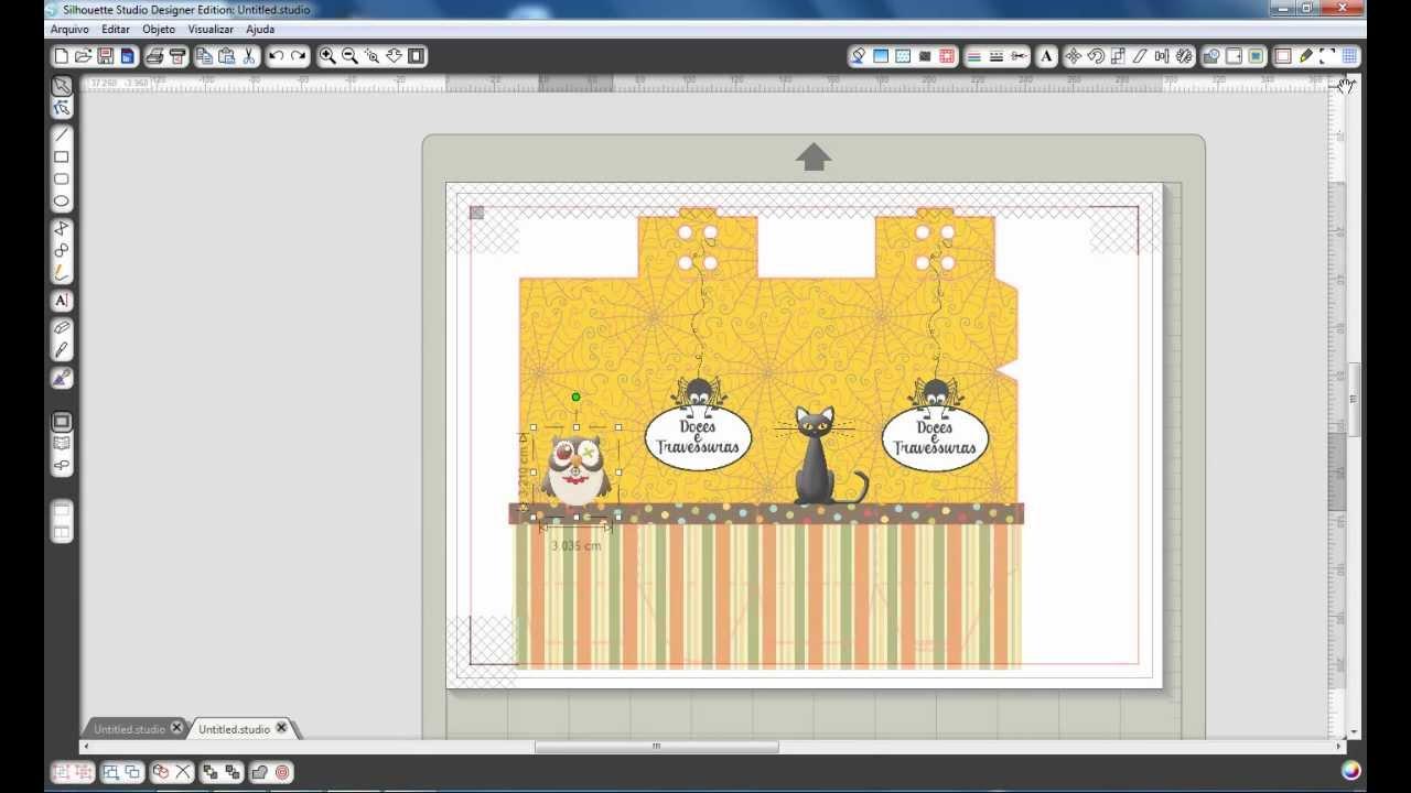 Personalizado Caixinha de leite Silhouette Cameo - YouTube 36b3f8b743