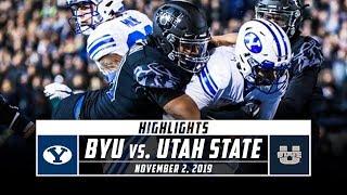 BYU vs. Utah State Football Highlights (2019) | Stadium