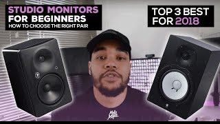 Top 3: Best Beginner Studio Monitors - Watch This Before You Buy!