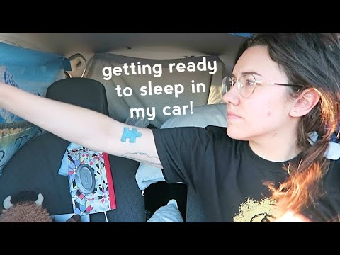 LIVING IN MY CAR: HOW I GET READY TO SLEEP | Katie Carney