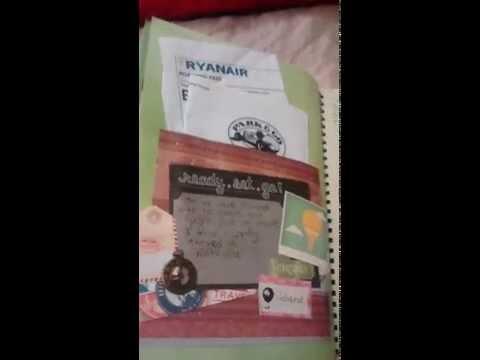 Travel journal smash book: Paris and Poland