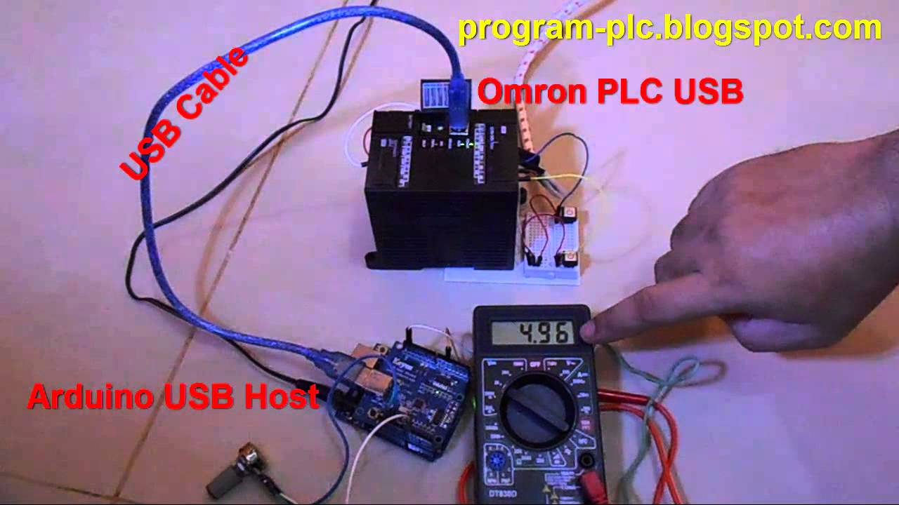 Usb communication between cp l omron plc and