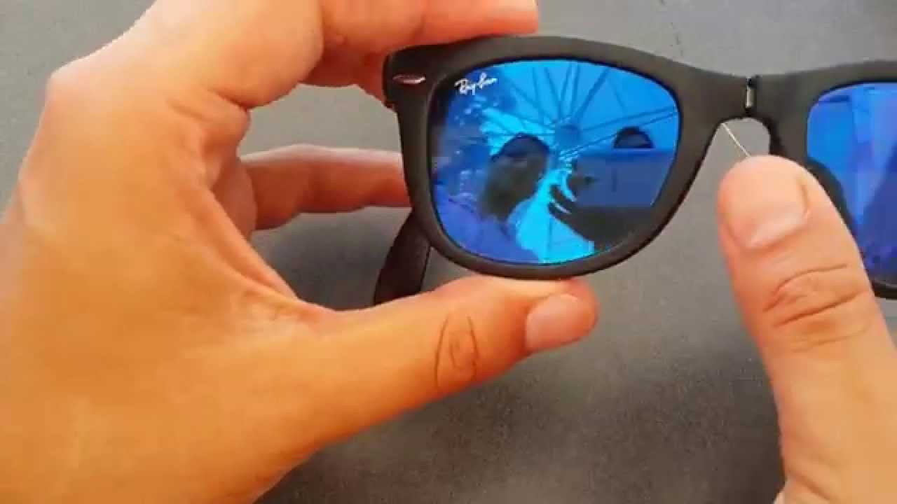 332d8027ff foldable Ray Ban Wayfarer sunglasses - YouTube