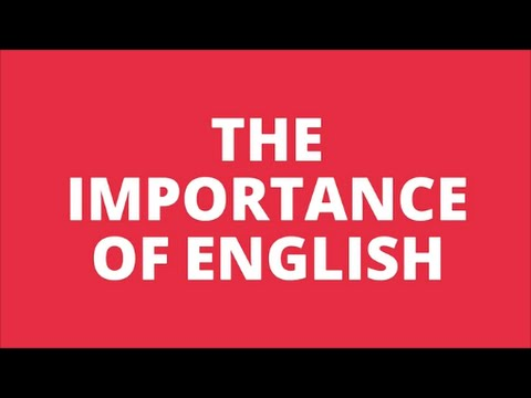 the importance of english  youtube