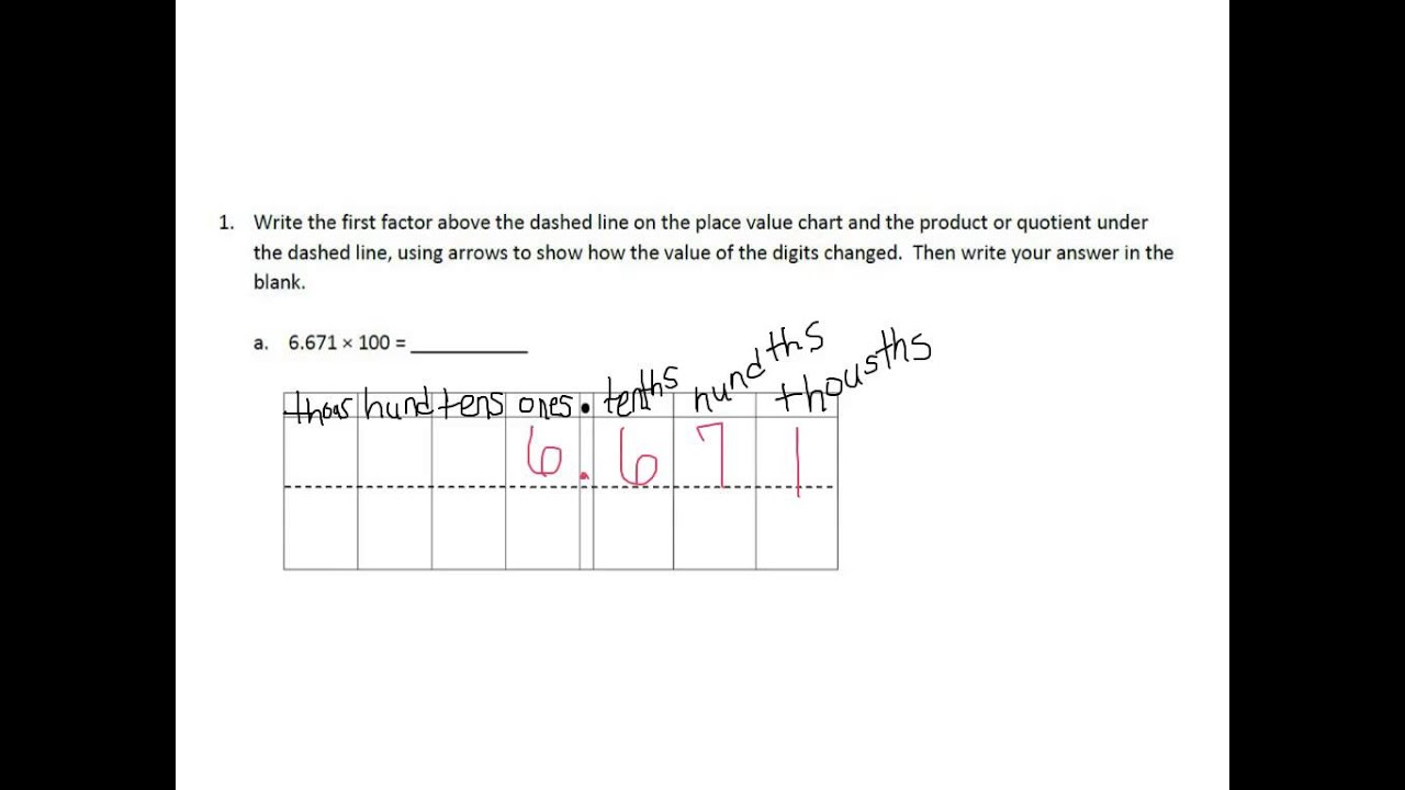 Grade 5 module 1 lesson 1 exit ticket youtube nvjuhfo Choice Image