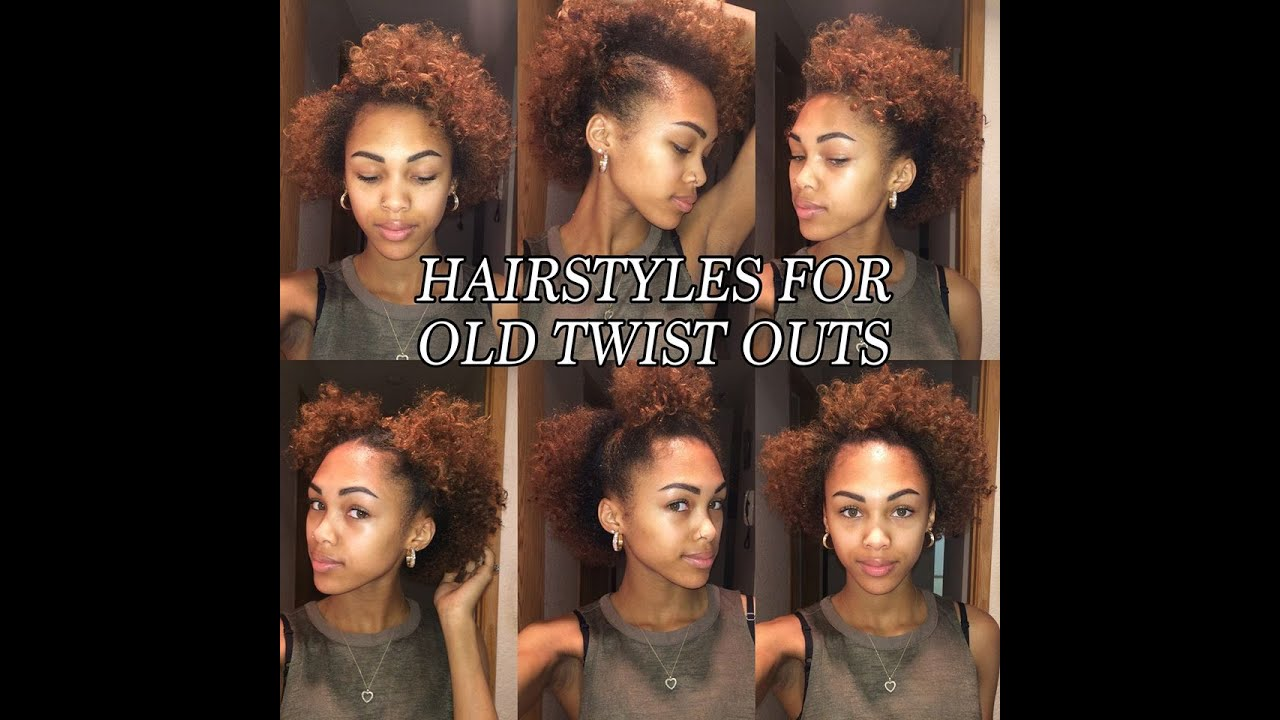 6 Quick And Easy Hair Styles For Old Twist Outs Natural Hair