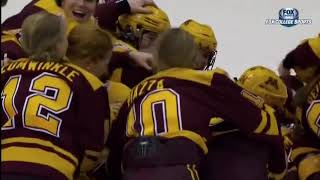 Minnesota vs. Wisconsin - 2018 WCHA Final Faceoff Championship Highlights
