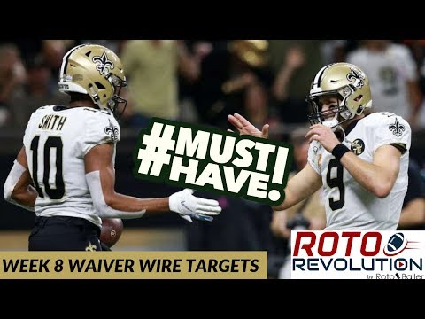 2018 Fantasy Football - Week 8 Waiver Wire Players To Target