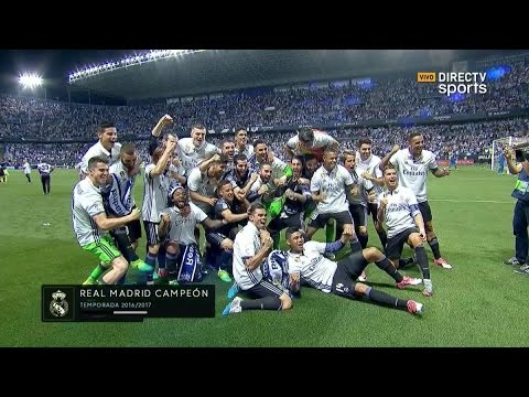 Celebracion Liga Real Madrid vs Malaga 21/05/2017