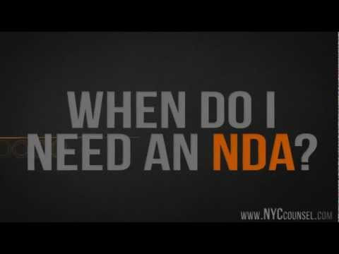 When do I need an NDA (Non Disclosure Agreement)?