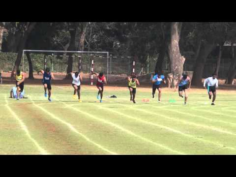 100m run at IIT Bombay Sports Gala