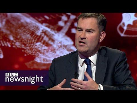 Evan Davis quizzes David Gauke on the government's record on spending - BBC Newsnight