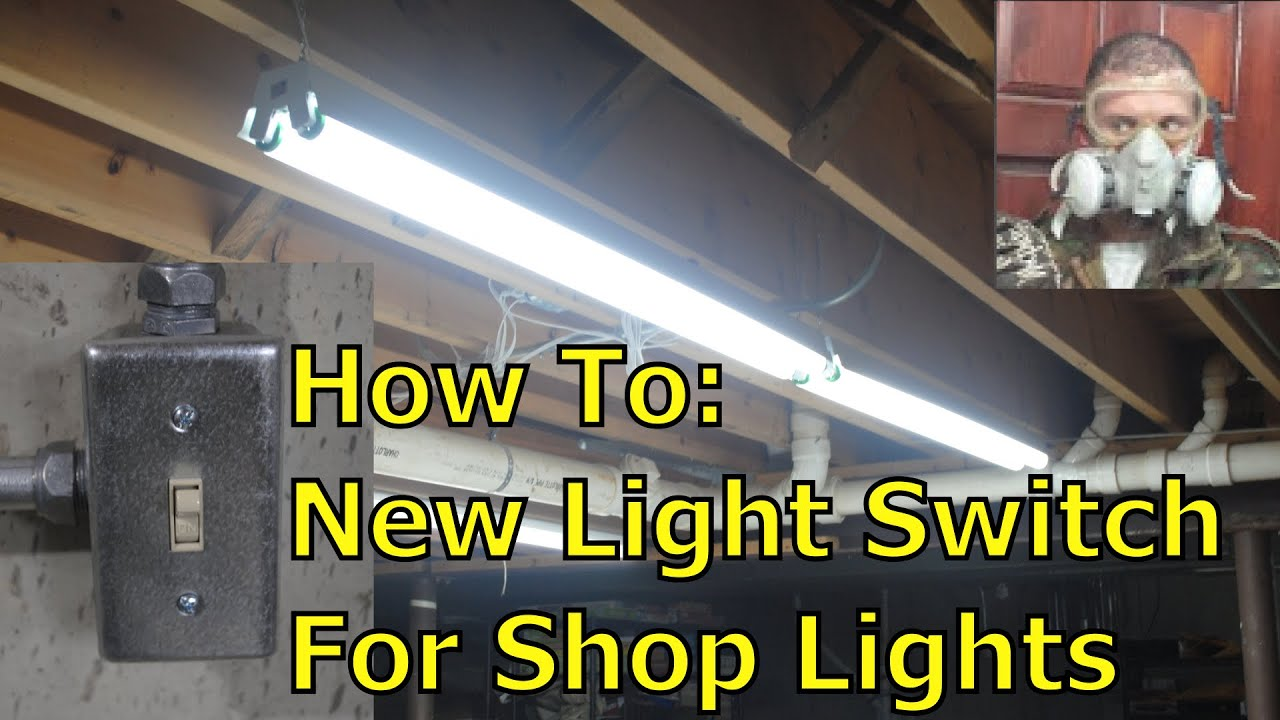 Installing New Switched Outlets for Shop Lights  YouTube