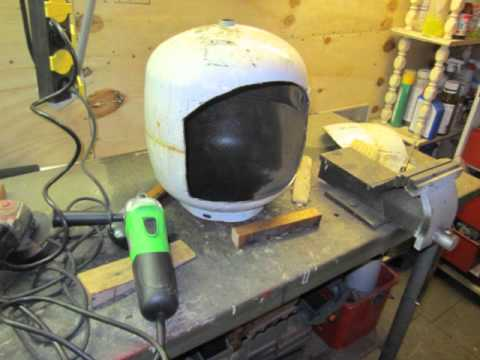 Bekend Tuinhaard maken, Gardenstove Fireplace DIY stove - YouTube @AZ26