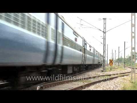 Train moving along at its top speed: Kerala Express