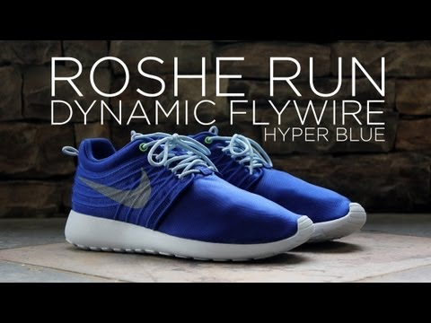 Review  Nike Roshe Run Dynamic Flywire - Hyper Blue - YouTube ca5ca34d89