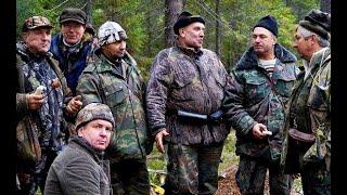 Гон зайца стаей русских гончих