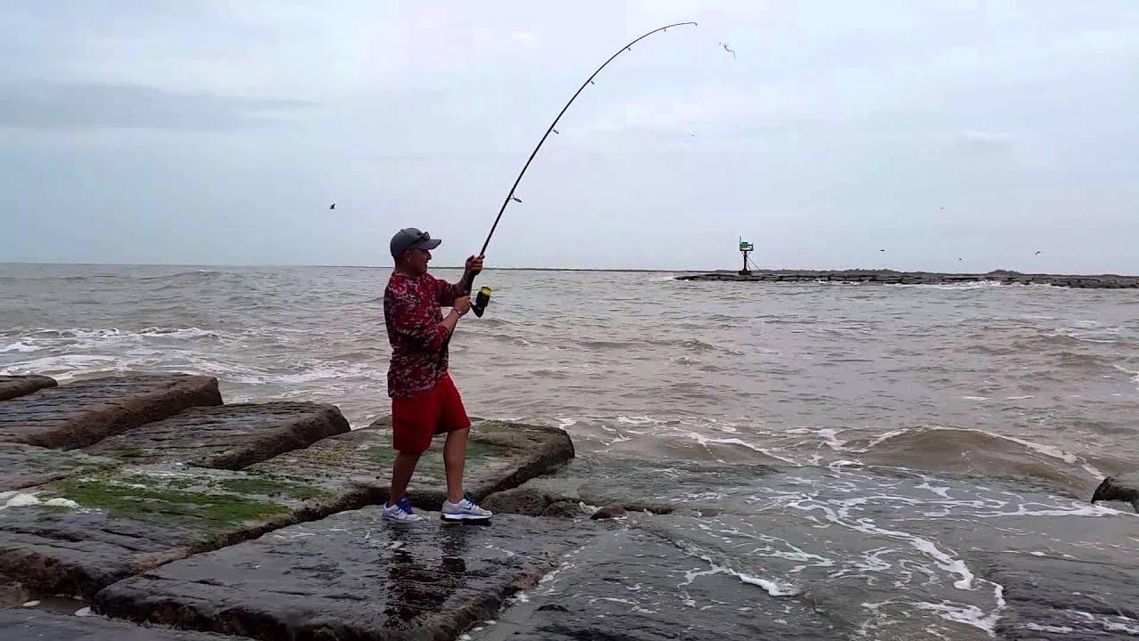 Matagorda Fishing Jetties Red Bull Youtube