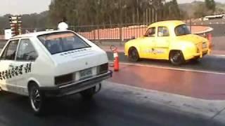 Arrancada Carros de Rua Piracicaba.... Gordini Turbo (Super Sonic) - 4 puxadas.